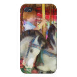 Little Boy on Carousel Case For iPhone 4