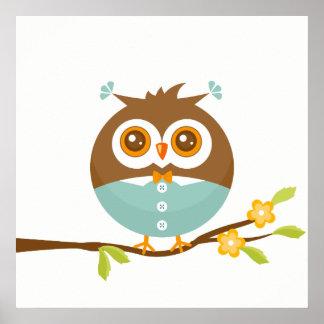 Little Boy Owl Poster