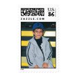 little boy photo stamp