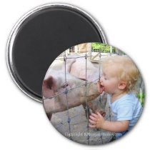 Little Boy & Pig Magnet