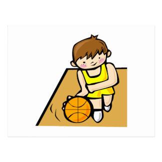 Little boy player freckles postcard