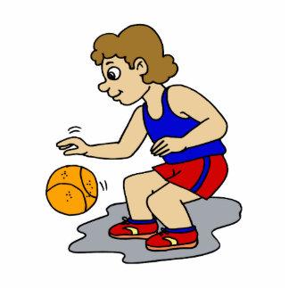 Little boy playing basketball photo cutouts