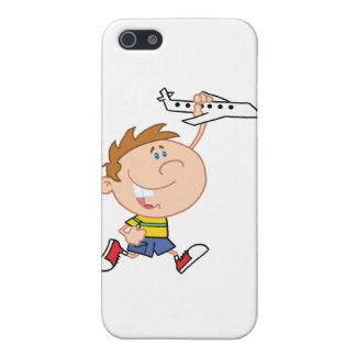 Little Boy Playing With Airplane Toy iPhone 5 Case