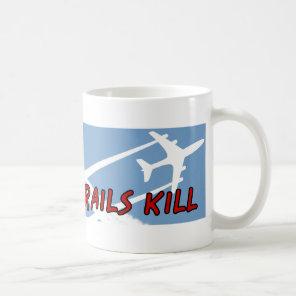Little Boy pointing up Chemtrails Kill Coffee Mug