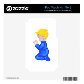 Little Boy Praying Skins For iPod Touch 4G