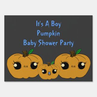 Little Boy Pumpkin Baby Shower Yard Signs