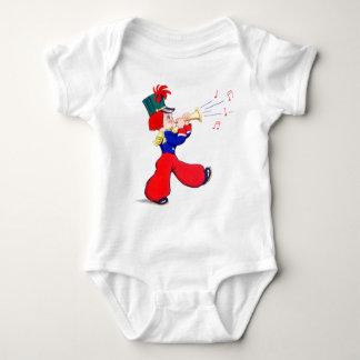 Little Boy que toca una trompeta Body Para Bebé