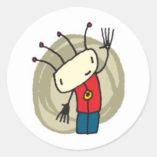 Little Boy Round Stickers