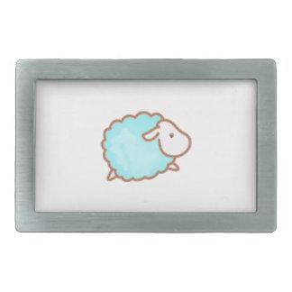 LITTLE BOY SHEEP RECTANGULAR BELT BUCKLE