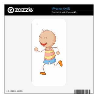Little boy decals for the iPhone 4
