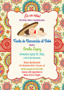 In Spanish Baby Shower Invitations Zazzle