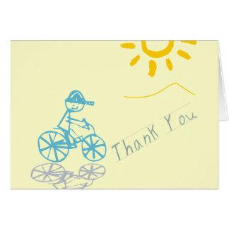 Little boy thank you card