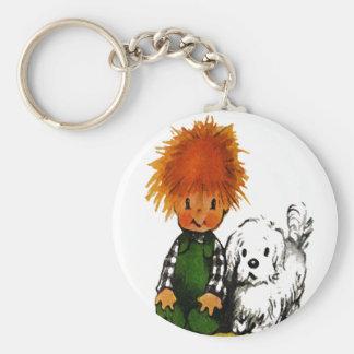 Little Boy valiente y su llavero del perro