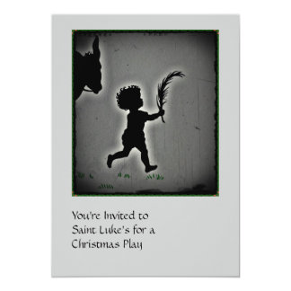 Little Boy with a Palm Branch 5x7 Paper Invitation Card