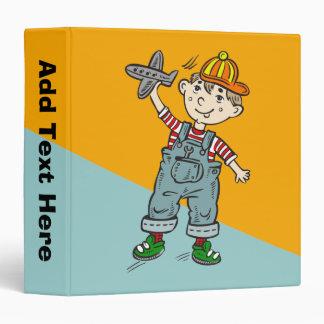 Little Boy With Airplane Binder