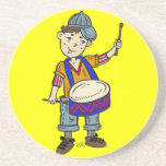 Little Boy With Drums Coasters