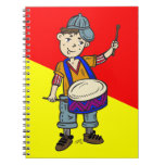 Little Boy With Drums Notebook