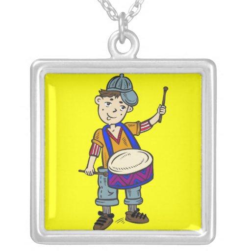 Little Boy With Drums Pendant