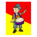 Little Boy With Drums Postcard