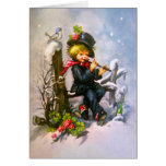 Little Boy with Flute Greeting Card