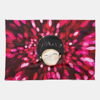 Little boy with space background kitchen towel