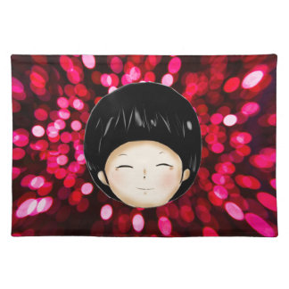 Little boy with space background placemats