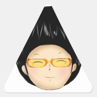 Little boy with sunglass triangle sticker