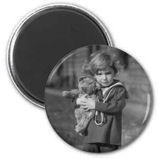 Little Boy with Teddy Bear: 1923 Magnet