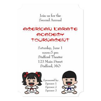 Little Boy y invitación del torneo del karate del