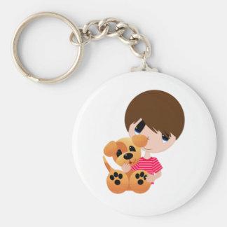 Little Boy y su perrito Llaveros Personalizados