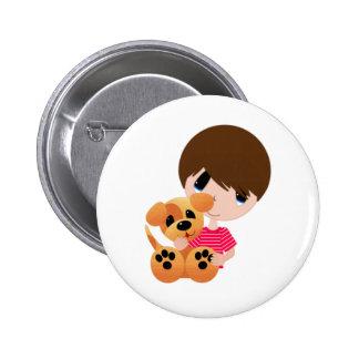 Little Boy y su perrito Pins