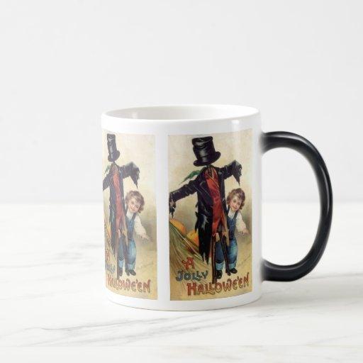 Little Boy y taza de Halloween del vintage del