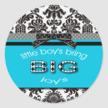 Little boys bring big joys-Sticker Classic Round Sticker