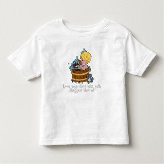 Little boys don't take bath toddler t-shirt