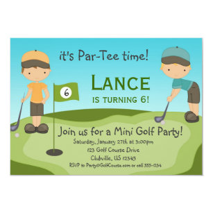 Mini golf birthday invitations zazzle little boys golf birthday party invitation filmwisefo