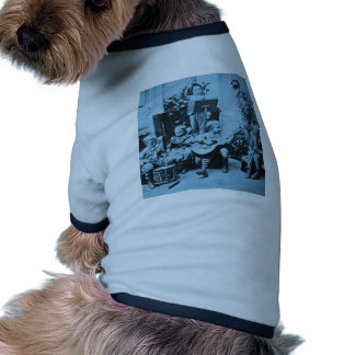 Little Boys Orchestra Vintage Stereoview Cyanotype Doggie Tshirt