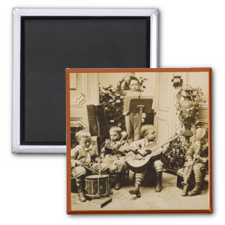 Little Boys Orchestra - Vintage Stereoview Magnet