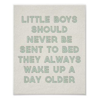 Little Boys Quote Print