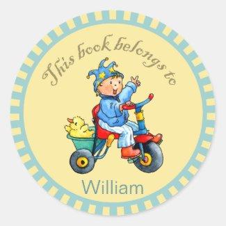Little Boys Trike Book Sticker