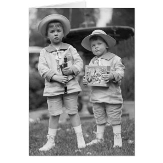 Little Boys with Toys, 1915 Greeting Cards