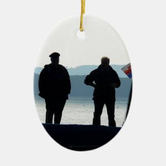 Little break for the ferrymen ceramic ornament