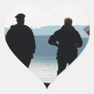 Little break for the ferrymen heart sticker