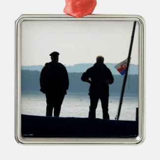 Little break for the ferrymen metal ornament