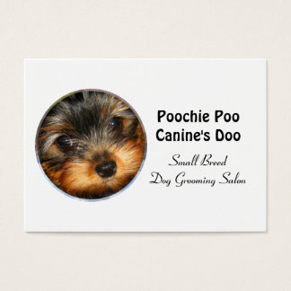 """Little Breed Dog Groomer Professional  3.5"""" x 2.5"""" Business Card"""