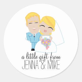 little BRIDE & GROOM party favor sticker 2