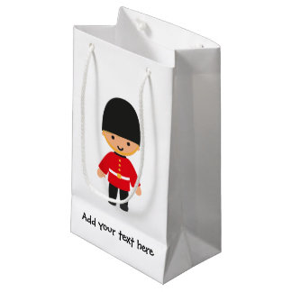 Little British Royal Guard (Blond Hair) Small Gift Bag
