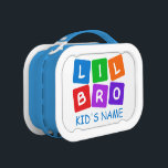"""Little Bro custom lunch box<br><div class=""""desc"""">Change the text field to what you want. Using the """"customize it"""" function,  you can change the background color of this item if you wish. See my store for more items with this design.</div>"""
