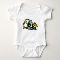 Little Brother Backhoe Baby Bodysuit