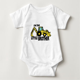 Little Brother Backhoe Baby Bodysuit