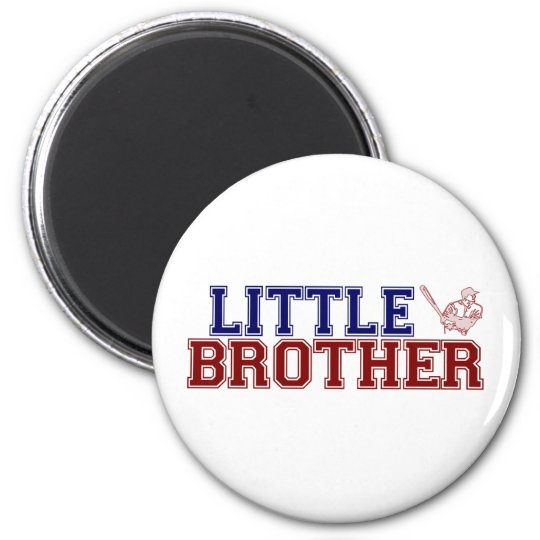 Little Brother Baseball Magnet